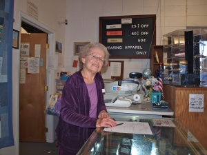 Jeanne runs the thrift shop and has been volunteering here for 13 years