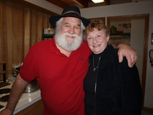 """Santa"" and his wife Chris Hill, COO of ACS"