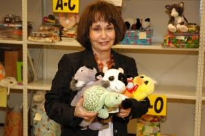 Bobbie with toys