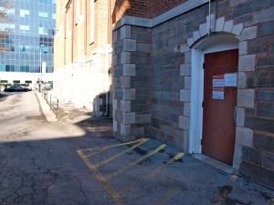 Door and alley way at morning sandwich ministry