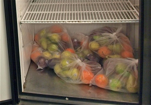 Cornucopia of fruit for food pantry clients at Circle of Concern