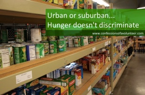Urban or suburban hunger doesn't discriminate